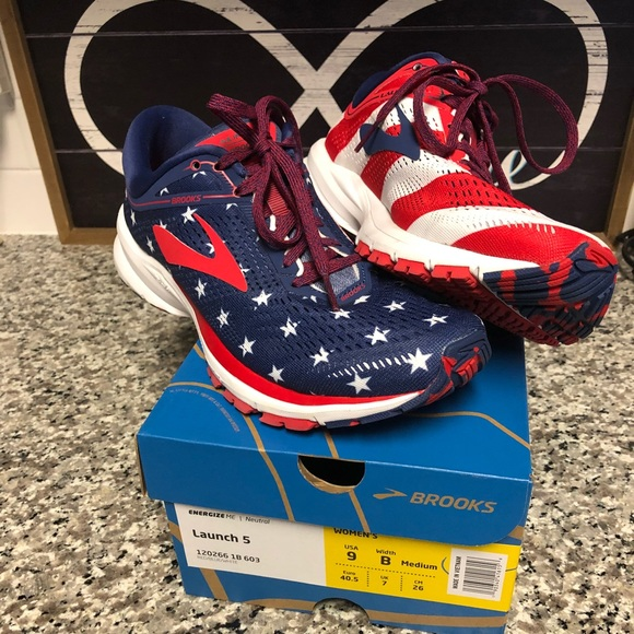 cd10e159d2a Brooks Shoes - Brooks Launch 5 Limited 4th of July 5k edition